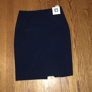 NWT Anne Klein Navy Size 2 Pencil Office Skirt